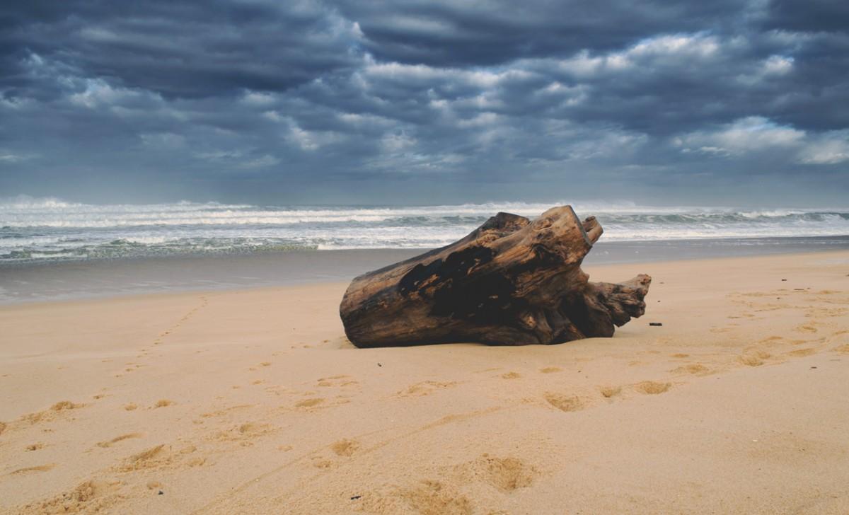 Tempête plage