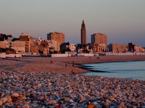 Plage du Havre - soleil couchant