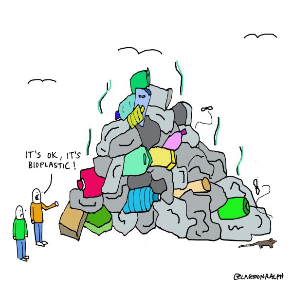 Rubbish pile_its ok its bioplastic