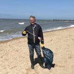 joao machar aguiado beach cleanup