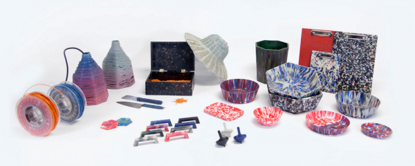 objets en plastique recyclé